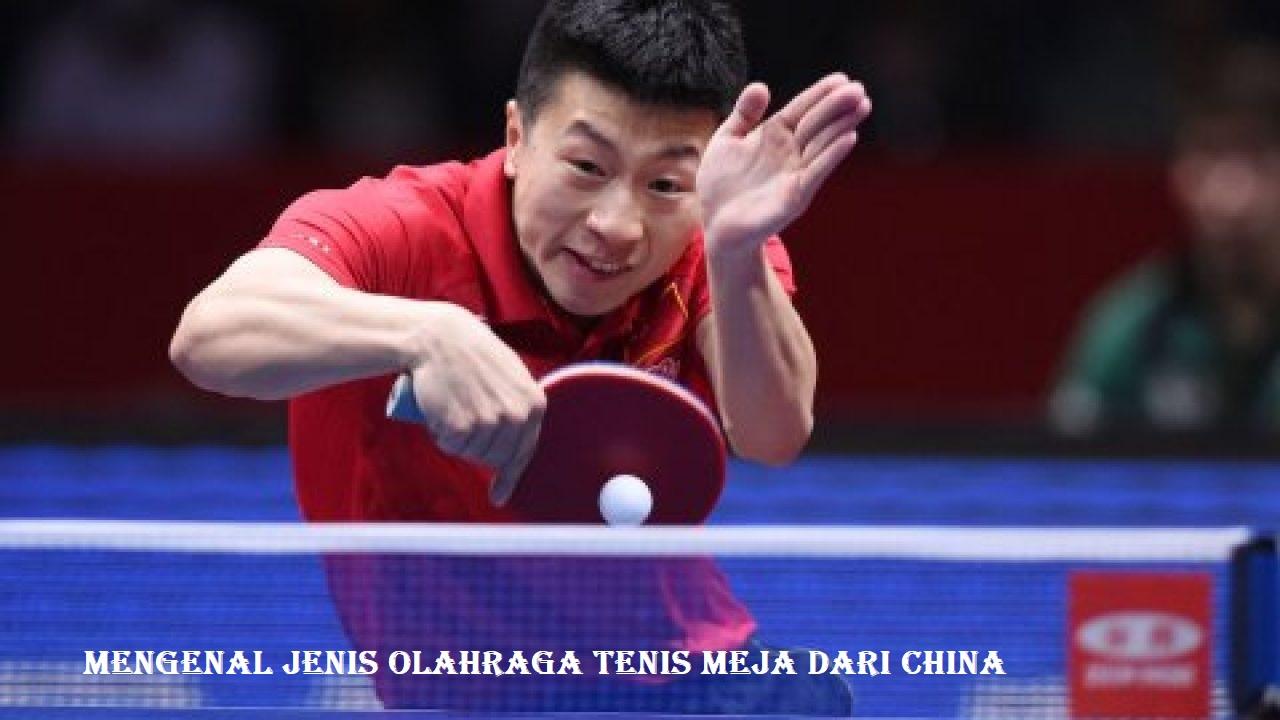 Mengenal Jenis Olahraga Tenis Meja dari China